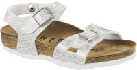 Birkenstock Rio biały z brokatem (magic snake white) wąski 1008286