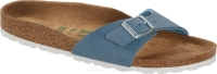 Birkenstock Madrid niebieski (brushed dove blue VEGAN) wąski 1018157