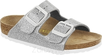 Birkenstock Arizona brokatowy srebrny (magic galaxy silver) wąski 831933
