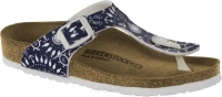 Birkenstock Gizeh granatowy we wzory (nautical print blue) wąski 1012716