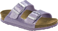 Birkenstock Arizona brokatowy fiolet (magic galaxy lavender) wąski 1002937