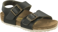 Birkenstock New York ciemnozielony (fashion pull up green) wąski 1000365