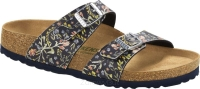 Klapki Birkenstock Sydney VEGAN watercolor flower navy wąskie 1018596